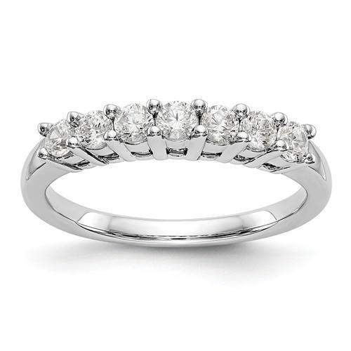 .50 ctw 7-Stone Diamond Anniversary Ring - Lab Grown Diamond Ring-Bel Viaggio Designs