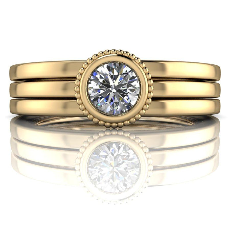 .50 CTW DEF Color Moissanite Stacking Rings Set, Insieme Bridal Stackables®-Bel Viaggio Designs