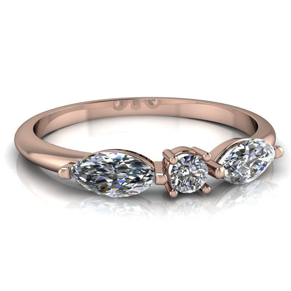 .52 CTW Moissanite Stacking Ring, Insieme Bridal Stackables®-Bel Viaggio Designs