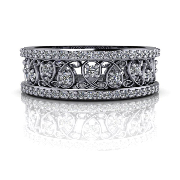 .53 CTW Forever One Moissanite Anniversary Band or Wedding Band-Bel Viaggio Designs