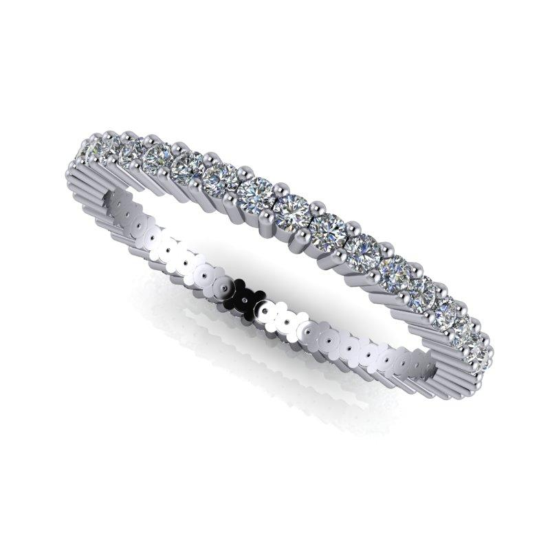 .55 CTW Round Forever One Moissanite Eternity Band-BVD