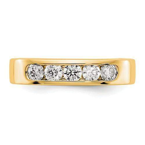 .58 ct Women's Diamond Wedding Band Lab Grown Diamond Round Band-Bel Viaggio Designs
