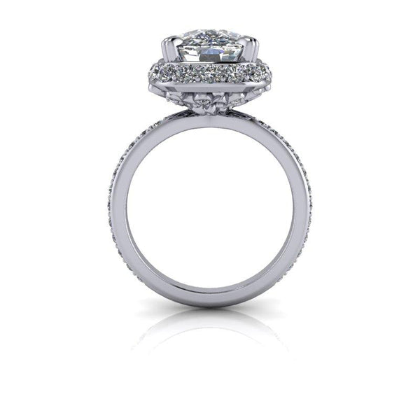 5.84 CTW Elongated Cushion Cut Moissanite Engagement Ring, Stacy K Opulence Collection-BVD