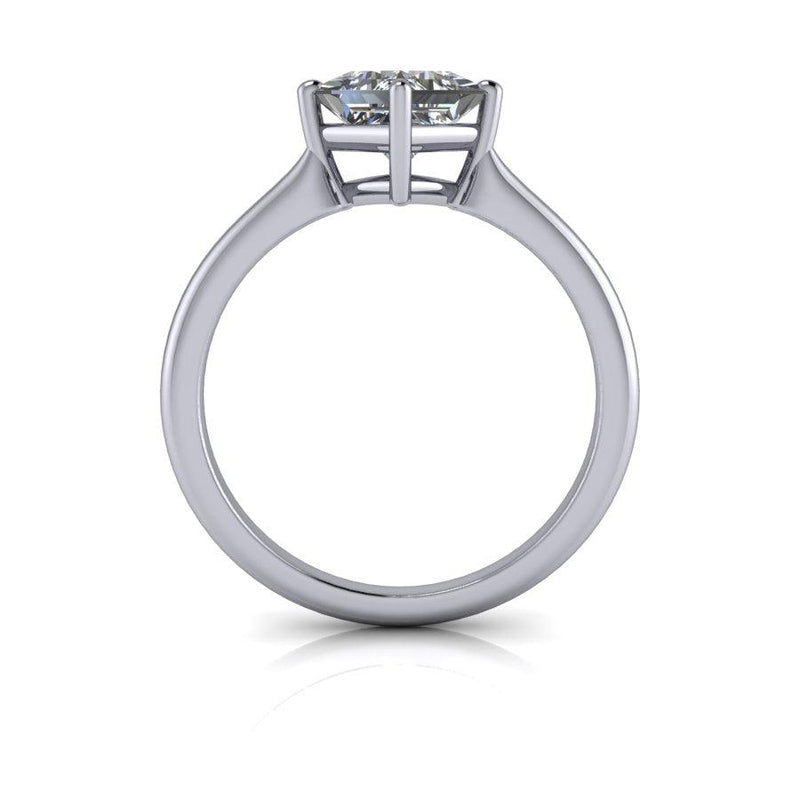 Princess Cut Moissanite Solitaire Engagement Ring-Bel Viaggio Designs