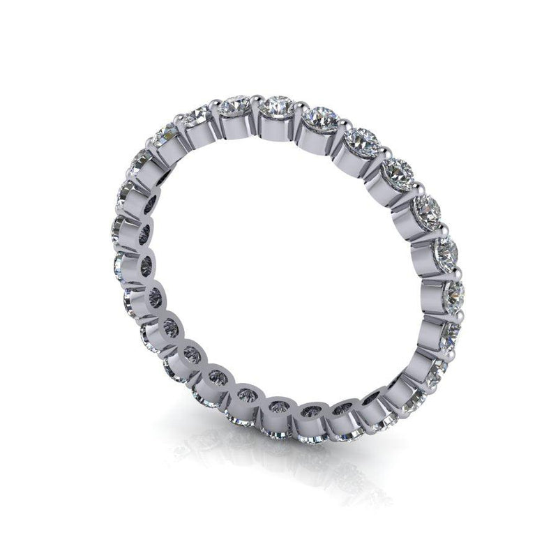 1.11 CTW Lab Grown Diamond Wedding Band, Eternity Band-Bel Viaggio Designs