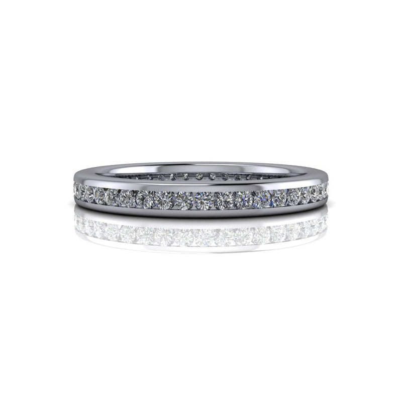Lab Grown Diamond Eternity Band Channel Set .40 ctw-Bel Viaggio Designs