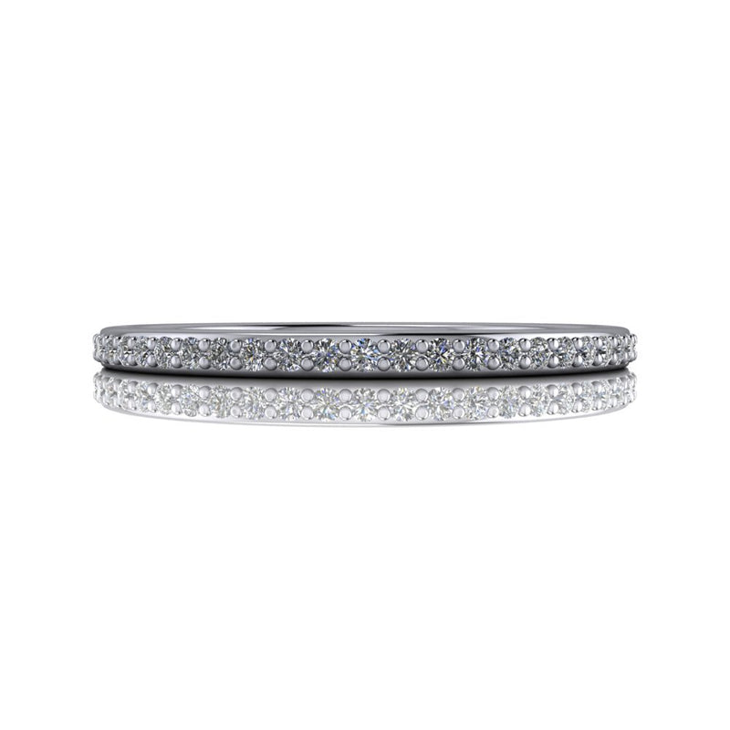 .26 ctw Lab Grown Diamond Women's Wedding Band-Bel Viaggio Designs