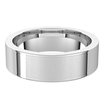 Men's Flat Wedding Band Comfort Fit-Bel Viaggio Designs