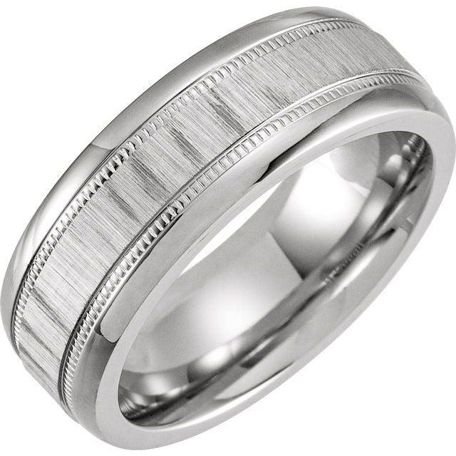 Men's Cobalt Wedding Band 8mm Wide-Bel Viaggio Designs