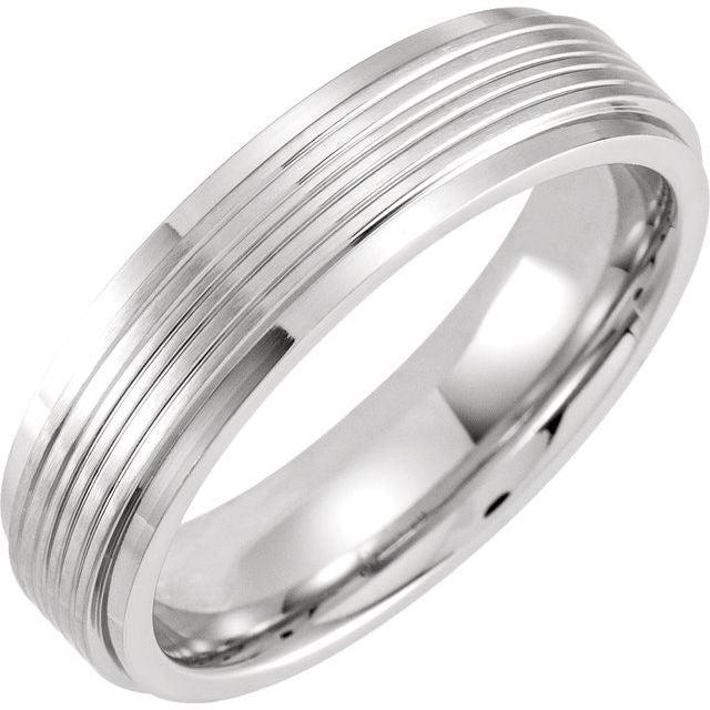 Men's Cobalt Wedding Band 6mm-Bel Viaggio Designs