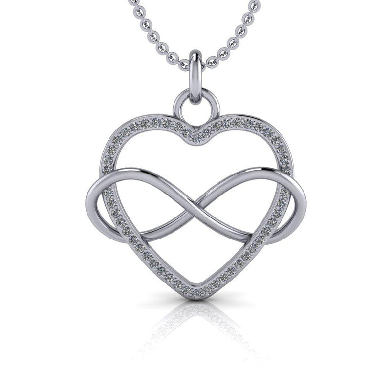 .35 ctw Diamond Heart Infinity Necklace-Bel Viaggio Designs