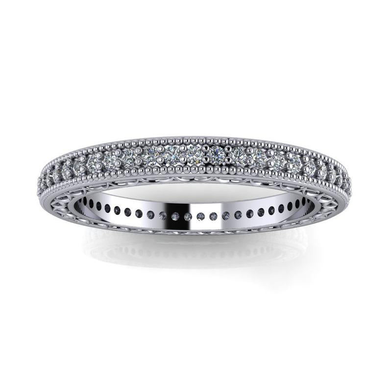 .35 CTW Lab Grown Diamond Women's Wedding Band-Bel Viaggio Designs