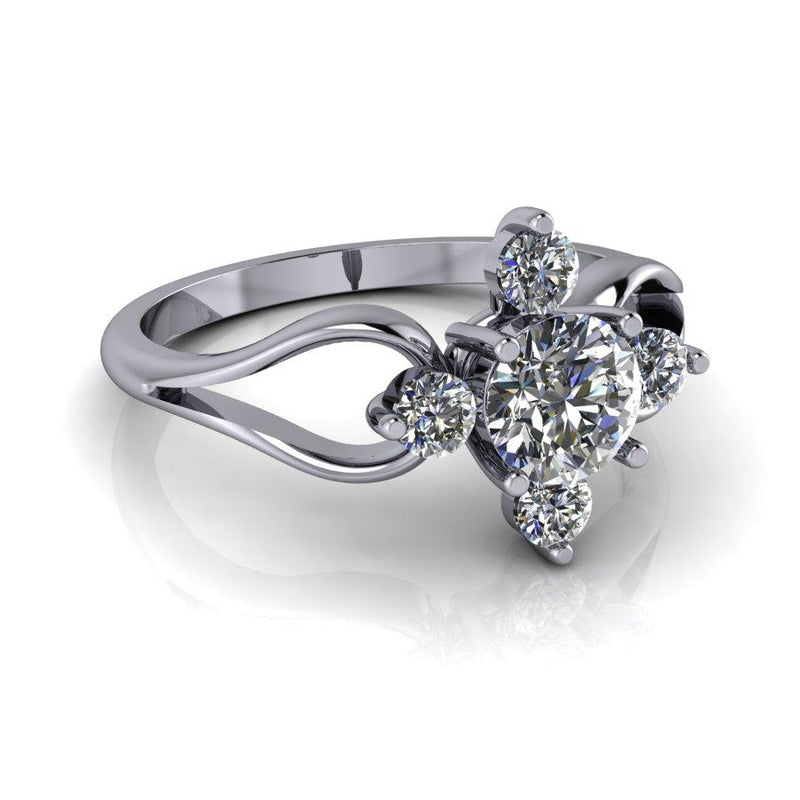 .73 CTW Forever One Moissanite Fashion Ring-Bel Viaggio Designs