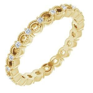 Lab Grown Diamond Eternity Band .25 ctw-Bel Viaggio Designs