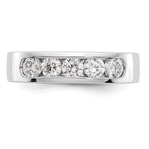 .75 ct Women's Diamond Wedding Band - Lab Grown Diamond Round Band-Bel Viaggio Designs