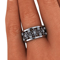 .75 CTW Forever One Moissanite Anniversary Band-BVD