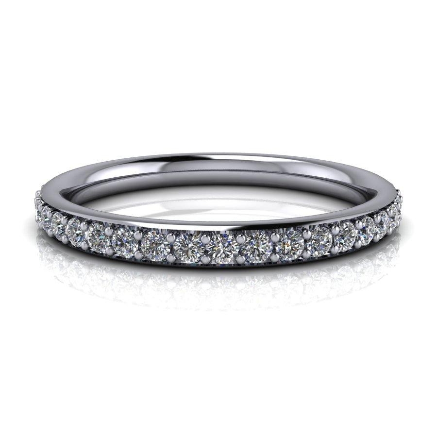 .75 CTW Forever One Moissanite Eternity Band, Wedding Ring-BVD