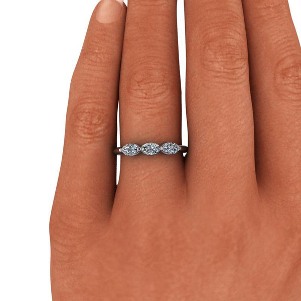 .78 CTW Moissanite Stacking Ring, Insieme Bridal Stackables®-Bel Viaggio Designs