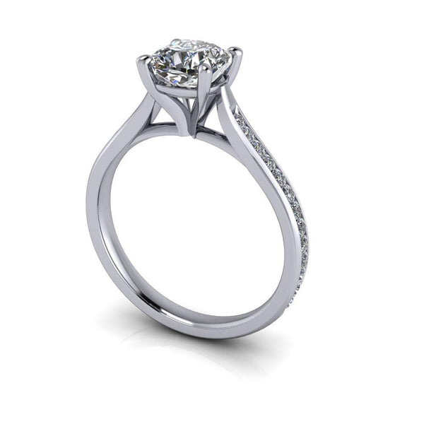 1.40 CTW Cushion Cut Charles & Colvard Moissanite Diamond Engagement Ring-Bel Viaggio Designs