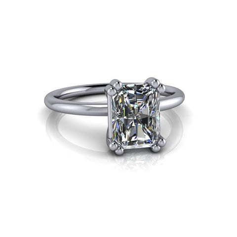 Radiant Cut Colorless Moissanite Engagement Ring 1.80 CTW-Bel Viaggio Designs