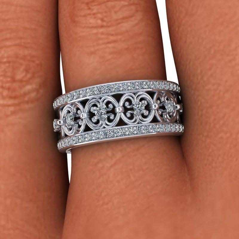 .80 CTW Diamond Anniversary Band, Stacy K Opulence Collection-Bel Viaggio Designs