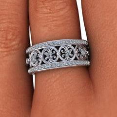 .80 CTW Forever One Moissanite Anniversary Band, Stacy K Opulence Collection-BVD