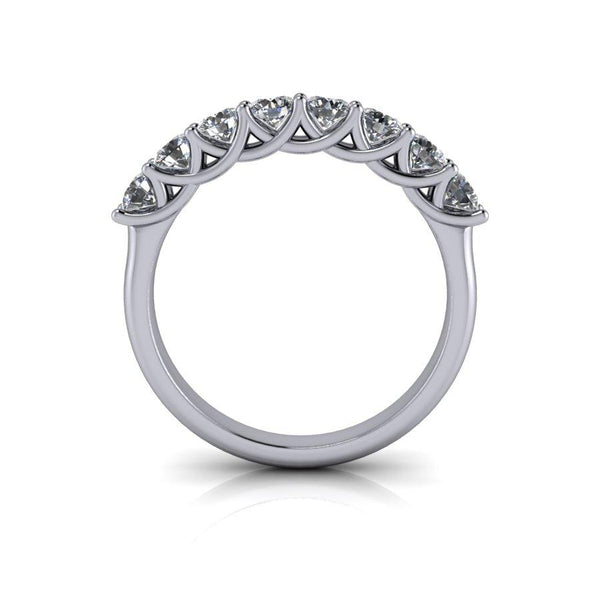 .80 CTW Forever One Moissanite Anniversary Ring-Bel Viaggio Designs