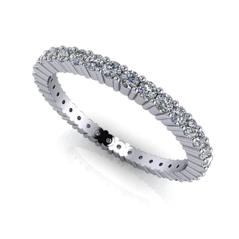 .80 CTW Round Forever One Moissanite Eternity Band-BVD