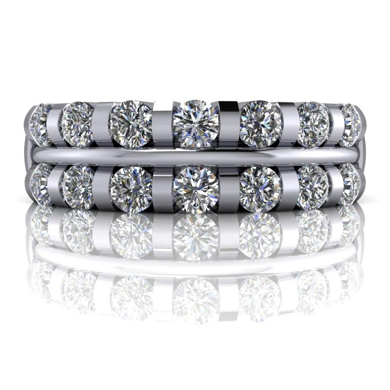 .82 CTW Forever One Moissanite Anniversary Band or Wedding Band-Bel Viaggio Designs