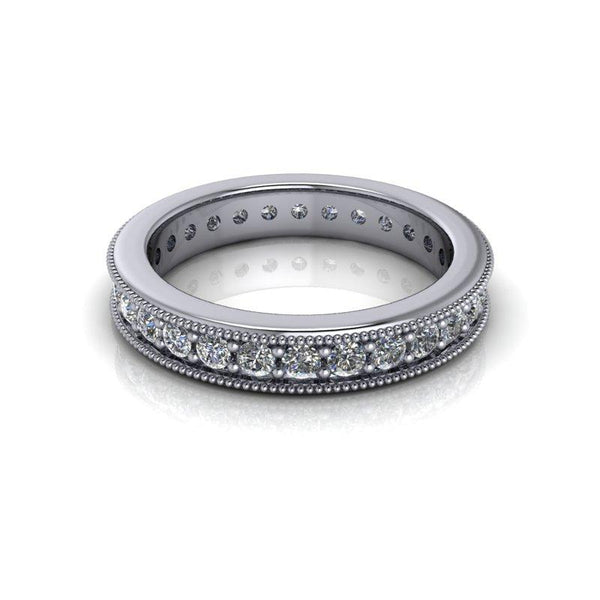 .84 CTW Forever One Moissanite Women's Eternity Wedding Band-Bel Viaggio Designs