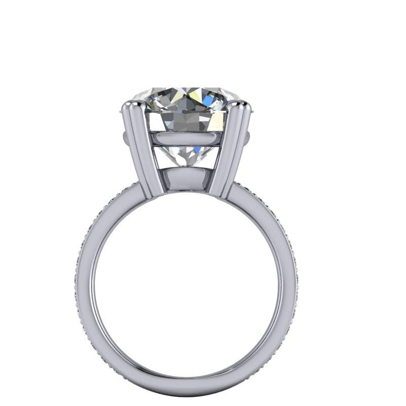 8.41 CTW Exotic Cut Round Forever One Moissanite Cocktail Ring-Bel Viaggio Designs