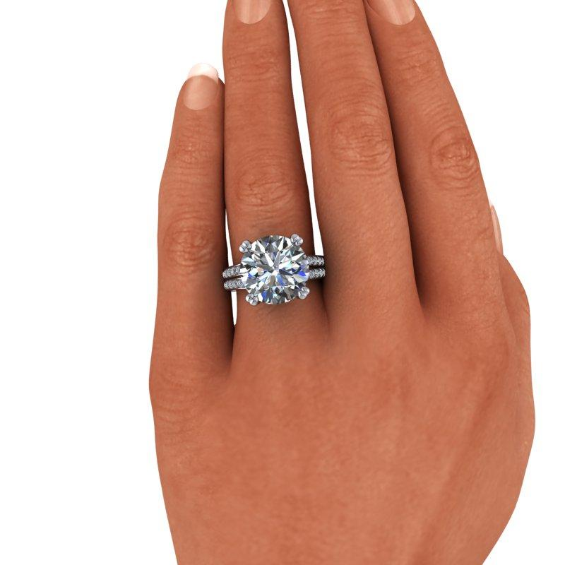 8.41 CTW Exotic Cut Round Forever One Moissanite Cocktail Ring-Bel Viaggio Designs, LLC
