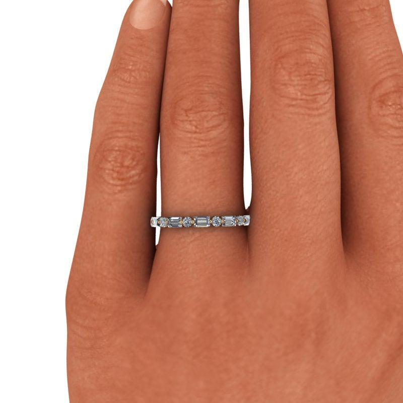 1.30 CTW Lab Grown Diamond Wedding Band, Stacking Ring-Bel Viaggio Designs