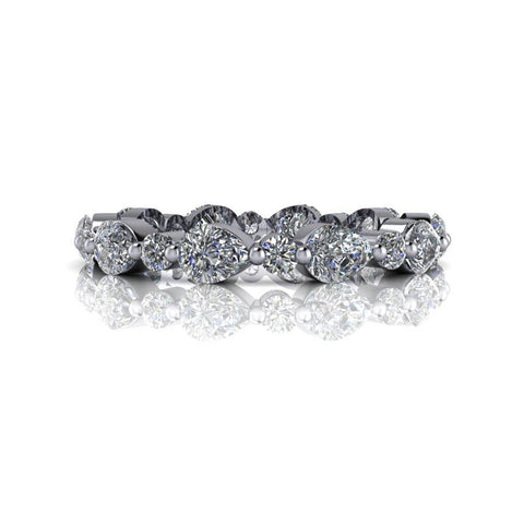 2 CTW Lab Grown Diamond Pear Band, Eternity Band-Bel Viaggio Designs
