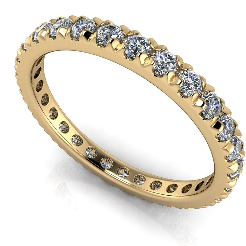 .90 CTW Round Lab Grown Diamond Eternity Band-Bel Viaggio Designs