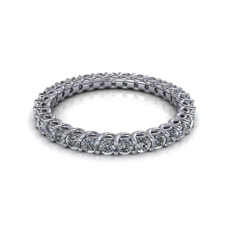 .95 CTW Women's Lab Grown Diamond Eternity Wedding Band-Bel Viaggio Designs