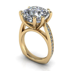 9.99 CTW Exotic Cut Cushion Forever One Moissanite Cocktail Ring/Engagement Ring-Forever One-Bel Viaggio Designs-Bel Viaggio®