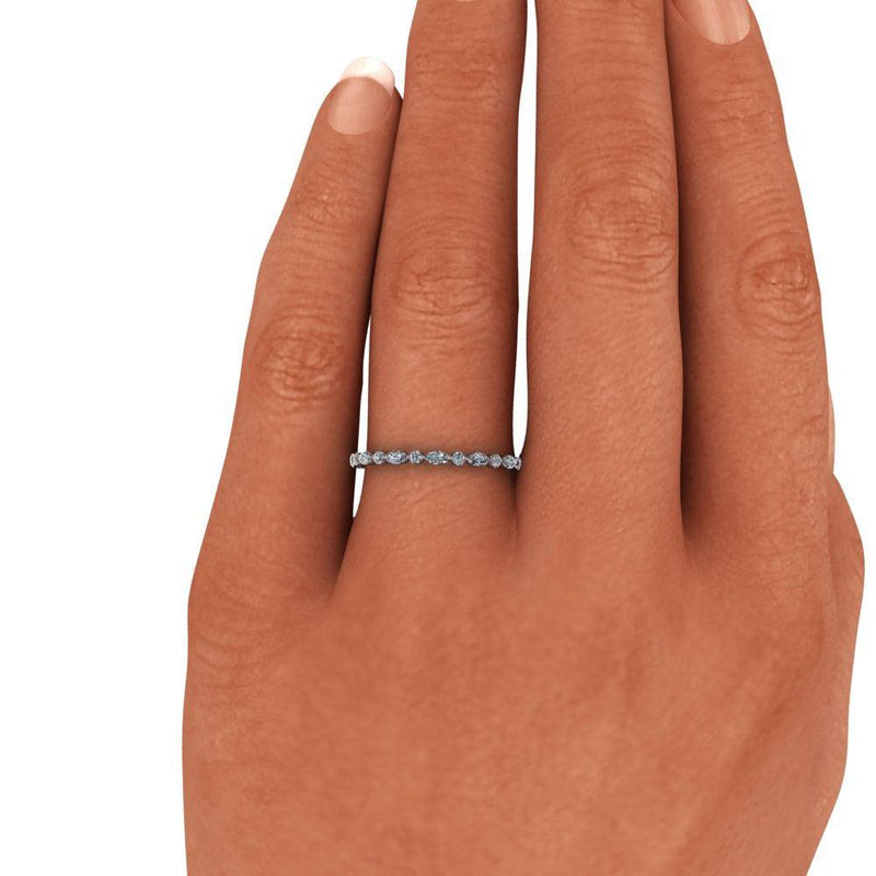 Diamond Eternity Band, Stacking Ring .50 CTW-Bel Viaggio Designs