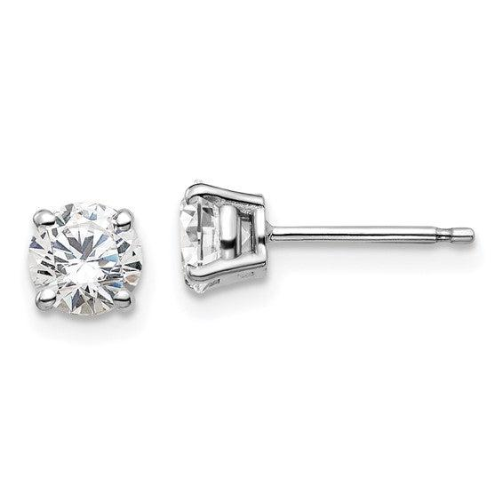 1.00 CTW Round Lab Grown Diamond Studs-Bel Viaggio Designs