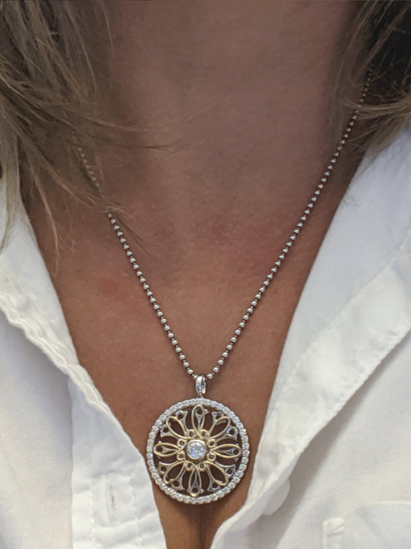 1.31 CTW Moissanite Pendant Necklace Stacy K Opulence-Bel Viaggio Designs