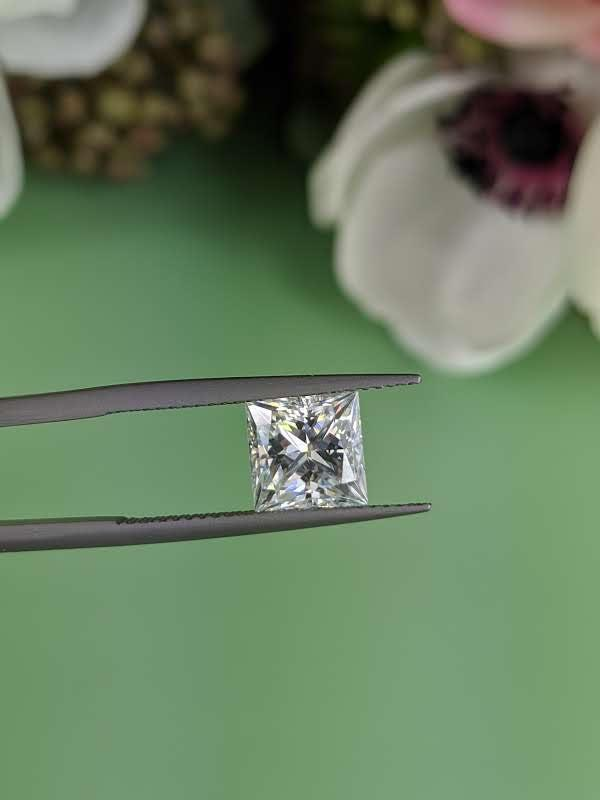 Loose Colorless Moissanite Princess Cut 2.50 ct-Bel Viaggio Designs