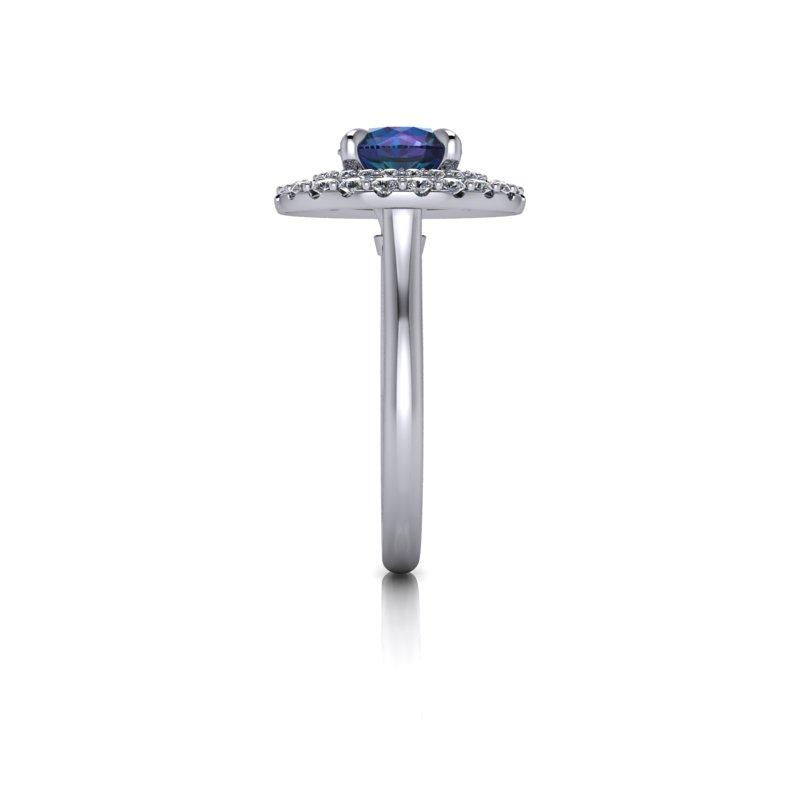 Alexandrite and Diamond Halo Ring 2.54 ctw-BVD