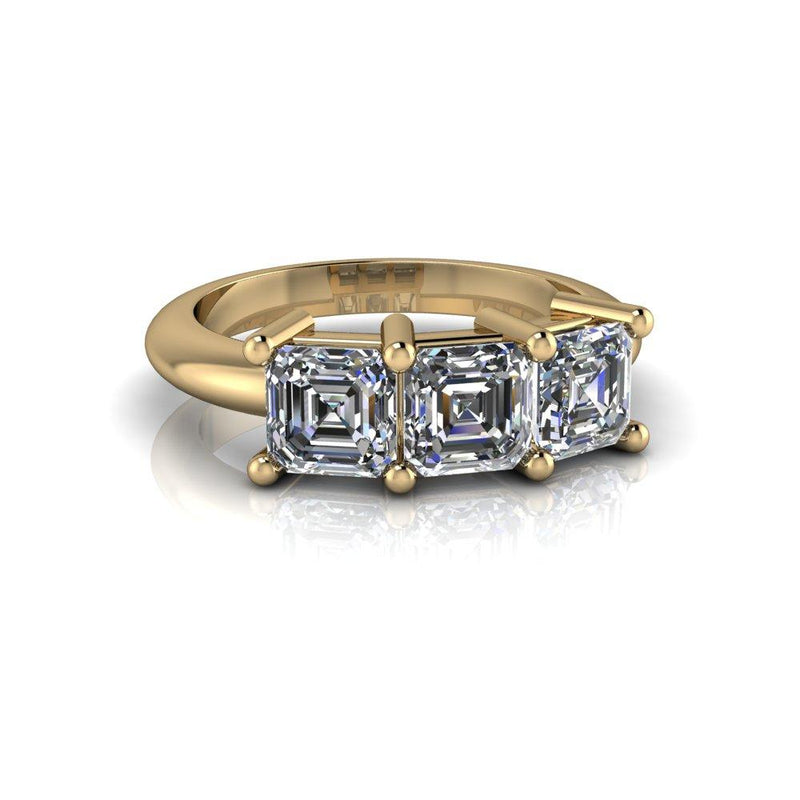 Asscher Cut Colorless Moissanite Anniversary Ring 2.43 CTW-Bel Viaggio Designs