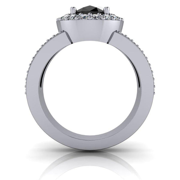 Black Diamond Ring, Diamond Anniversary Ring 3.16 ctw-BVD