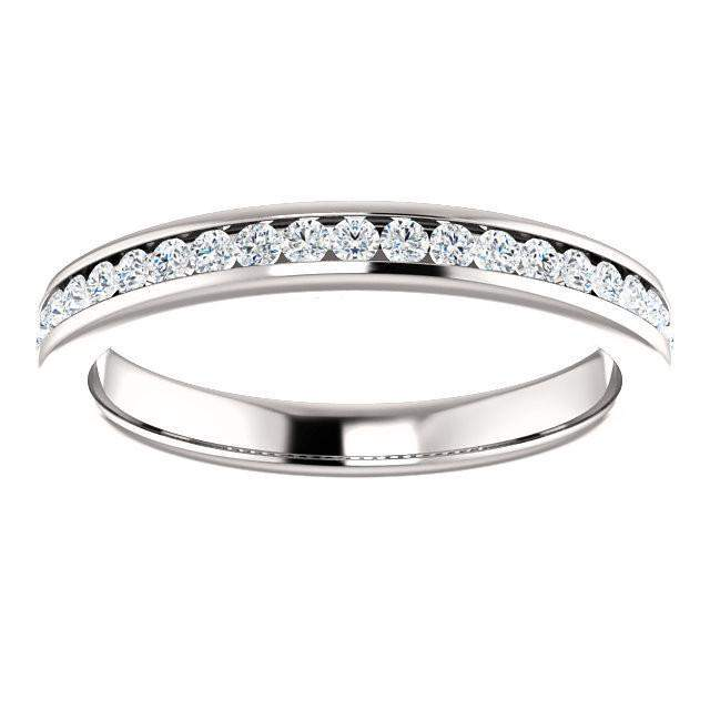 Channel Set Diamond Anniversary Band 14K White Gold 1/6 CTW-Bel Viaggio Designs, LLC