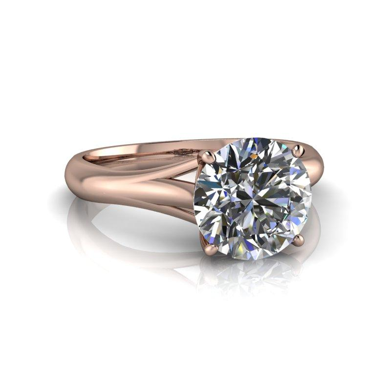 Charles and Colvard Moissanite Engagement Ring 1.90 ctw-Bel Viaggio Designs