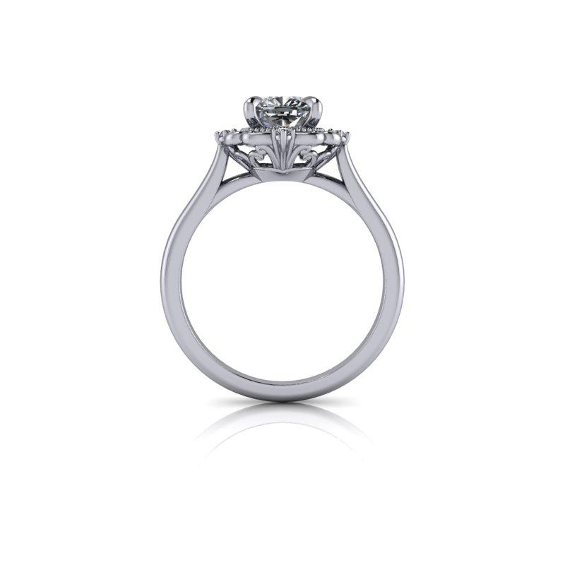 Cushion Cut Charles & Colvard Moissanite Engagement Ring 1.15 ctw-Bel Viaggio Designs