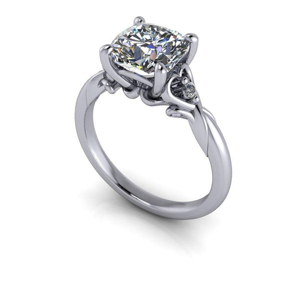 Cushion Cut Moissanite Engagement Ring 2.04 ctw-Bel Viaggio Designs