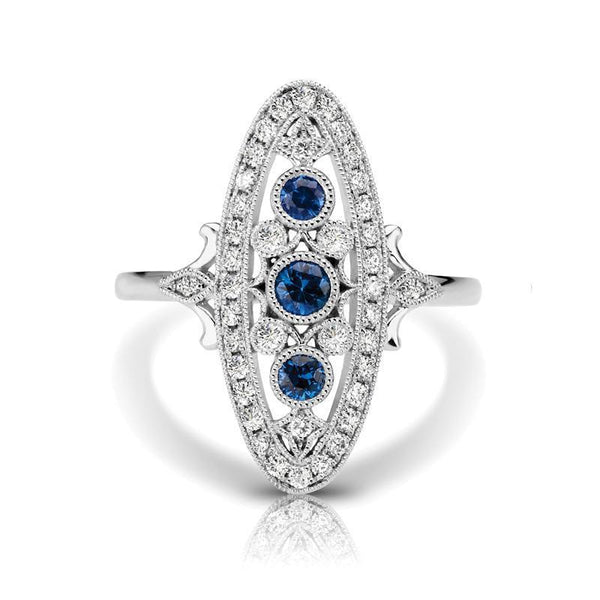 Diamond and Sapphire Fashion Ring .58 ctw-BVD
