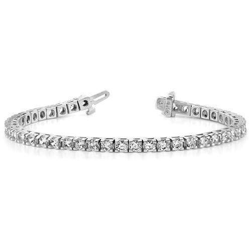 Diamond Bracelet 14 kt Gold 2.86 CTW - Lab Grown Diamond Tennis Bracelet-Bel Viaggio Designs